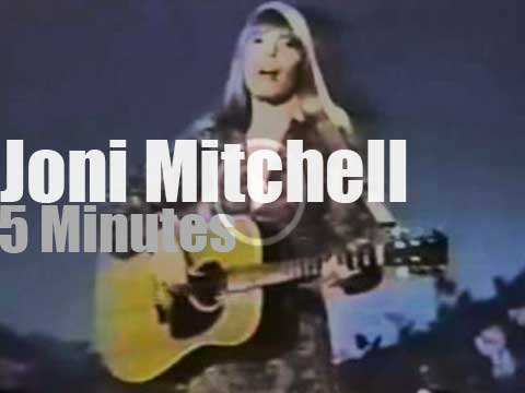 On TV today, Joni Mitchell is with Johnny Cash (1969