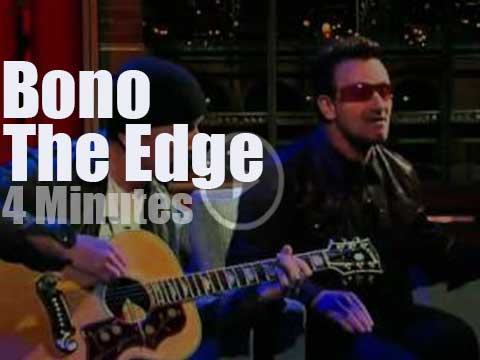 On TV today, Bono & The Edge with Letterman (2011) - Radio Video Music