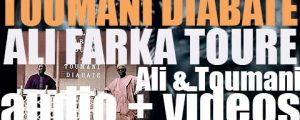 The album 'Ali and Toumani' puts together guitarist Ali Farka Touré & korist Toumani Diabaté (2010)